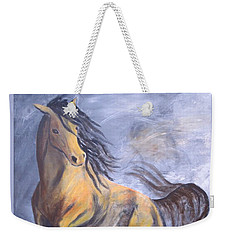 Weekender Tote Bag featuring the painting Follow Me by Laurianna Taylor