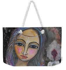 Weekender Tote Bag featuring the painting Follow The Light by Prerna Poojara