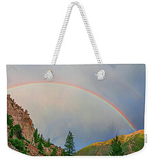 Follow The Rainbow To The Majestic Rockies Of Colorado.  Weekender Tote Bag