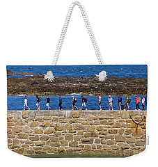 Weekender Tote Bag featuring the photograph Follow The Yellow Brick Road by Terri Waters