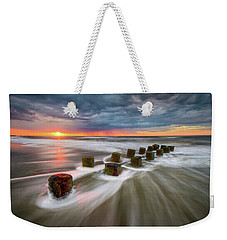 Folly Beach Charleston Sc South Carolina Sunrise Seascape Weekender Tote Bag