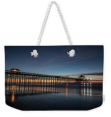 Folly Beach Pier Before Sunrise Weekender Tote Bag