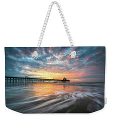 Folly Beach Sc Ocean Seascape Charleston South Carolina Scenic Landscape Weekender Tote Bag