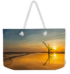 Folly Beach Skeleton Tree At Sunset - Folly Beach Sc Weekender Tote Bag
