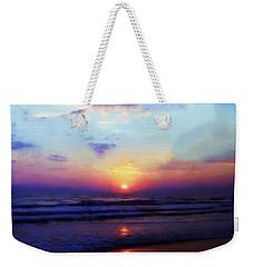 Folly Beach South Carolina Sunrise Weekender Tote Bag