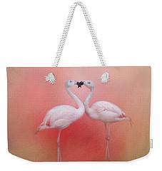 Fond Flamingos Weekender Tote Bag