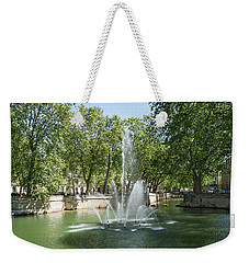 Weekender Tote Bag featuring the photograph Fontaine De Nimes by Scott Carruthers