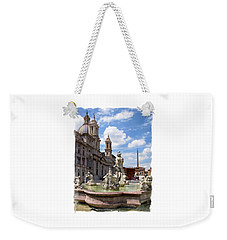 Weekender Tote Bag featuring the photograph Fontana Del Moro.rome by Jennie Breeze