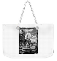 Weekender Tote Bag featuring the photograph Fontana Del Moro.rome.italy by Jennie Breeze