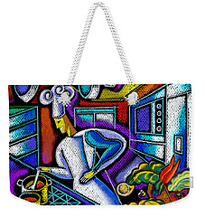 Weekender Tote Bag featuring the painting Food And Restaurant by Leon Zernitsky