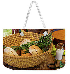 Weekender Tote Bag featuring the photograph Food - Bread - Rolls And Rosemary by Mike Savad