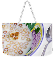 Weekender Tote Bag featuring the photograph Food, Breakfast Cereal Smile by Betty Denise