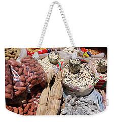 Weekender Tote Bag featuring the photograph Food Market by Aidan Moran