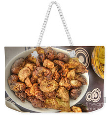 Weekender Tote Bag featuring the pyrography Food Meat by Yury Bashkin