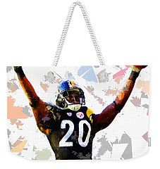 Weekender Tote Bag featuring the painting Football 113 by Movie Poster Prints