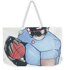 Football Player Weekender Tote Bag