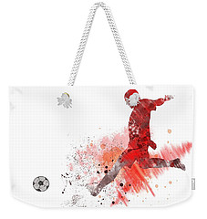 Football Player Weekender Tote Bag by Marlene Watson
