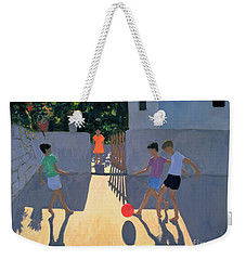 Footballers Weekender Tote Bag by Andrew Macara