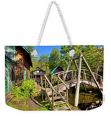Weekender Tote Bag featuring the photograph Footbridge At Palmer Point by David Patterson