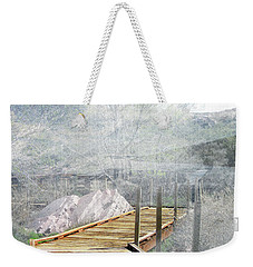 Footbridge In The Clouds Weekender Tote Bag by Deborah Nakano