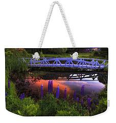Footbridge Sunset Weekender Tote Bag