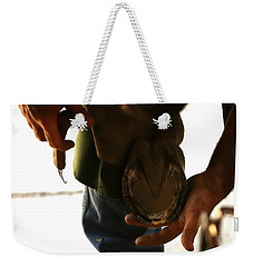Weekender Tote Bag featuring the photograph Footcare by Angela Rath