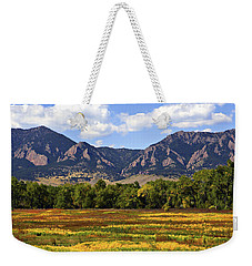 Weekender Tote Bag featuring the photograph Foothills Of Colorado by Marilyn Hunt