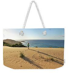 Footprints In The Sand Dunes Weekender Tote Bag