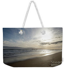 Weekender Tote Bag featuring the photograph Footprints In The Sand by Linda Lees
