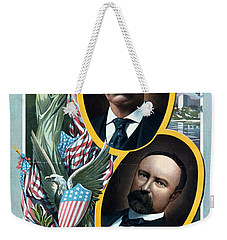For President - Theodore Roosevelt And For Vice President - Charles W Fairbanks Weekender Tote Bag by International  Images
