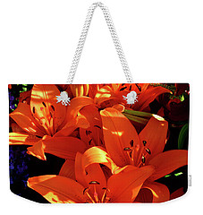 Weekender Tote Bag featuring the photograph For The Love Of Lilies by Kathy Kelly