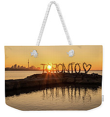 For The Love Of Toronto Weekender Tote Bag