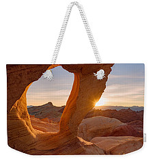 Weekender Tote Bag featuring the photograph Forbidden Mojave by Dustin LeFevre