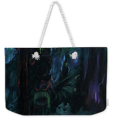Weekender Tote Bag featuring the painting Forbidden Forest by Christophe Ennis