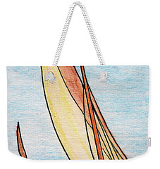 Force Of The Wind On The Sails Weekender Tote Bag by R Kyllo