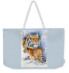 Weekender Tote Bag featuring the painting Forceful by Barbara Keith