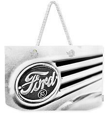Ford 85 In Black And White Weekender Tote Bag by Caitlyn Grasso