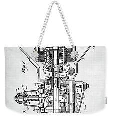Ford Engine Patent Weekender Tote Bag by Taylan Apukovska