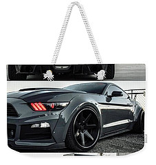 Weekender Tote Bag featuring the photograph  Ford Mustang Badass Widebody Muscle Car by Sheila Mcdonald