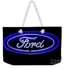 Ford Neon Sign Weekender Tote Bag
