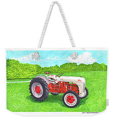 Weekender Tote Bag featuring the painting Ford Tractor 1941 by Jack Pumphrey