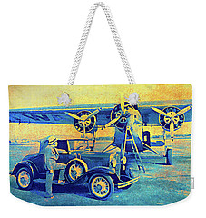 Ford Trimotor And 1931 Model A Roadster Weekender Tote Bag