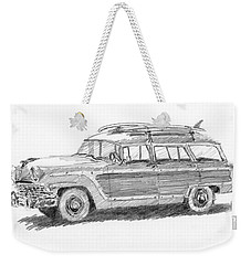 Ford Wagon Sketch Weekender Tote Bag