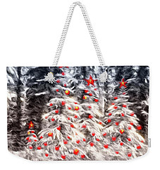 Weekender Tote Bag featuring the photograph Forest Christmas by Kathy Bassett