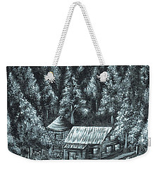 Forest Cottage Weekender Tote Bag