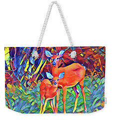 Forest Doe And Fawn Weekender Tote Bag