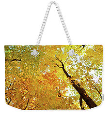 Forest Fall Yellow  Weekender Tote Bag by Lyle Crump