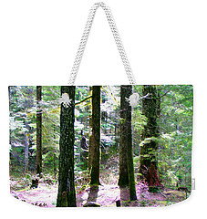 Weekender Tote Bag featuring the photograph Forest Giants by Sadie Reneau