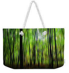 Forest Green Abstract Weekender Tote Bag