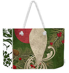 Forest Holiday Christmas Owl Weekender Tote Bag by Mindy Sommers